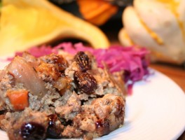 Grain-Free Cranberry Walnut Sausage Stuffing
