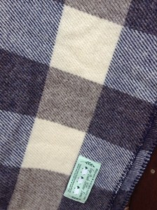 Navy Plaid Lap throw