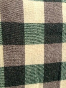 Green Heather Plaid Lap Throw