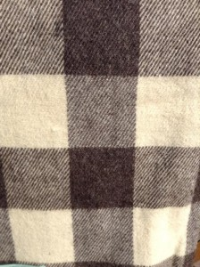 Natural Plaid Lap Throw