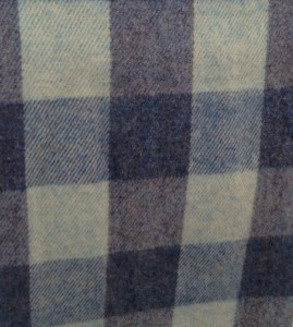 NEW! Slate Blue Plaid Queen Blanket