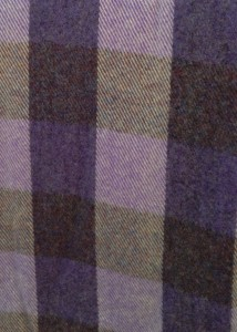 New! Lavender Plaid Queen Blanket