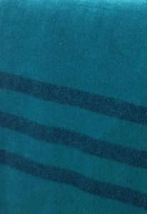 Teal Queen Blanket with Black Stripe