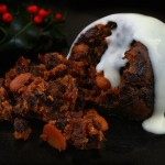 holiday pudding with rum sauce