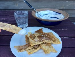 Cracklings in Sour Cream Dip